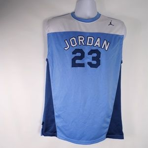 Vintage Jordan 23 Blue and White Sleeveless Tank
